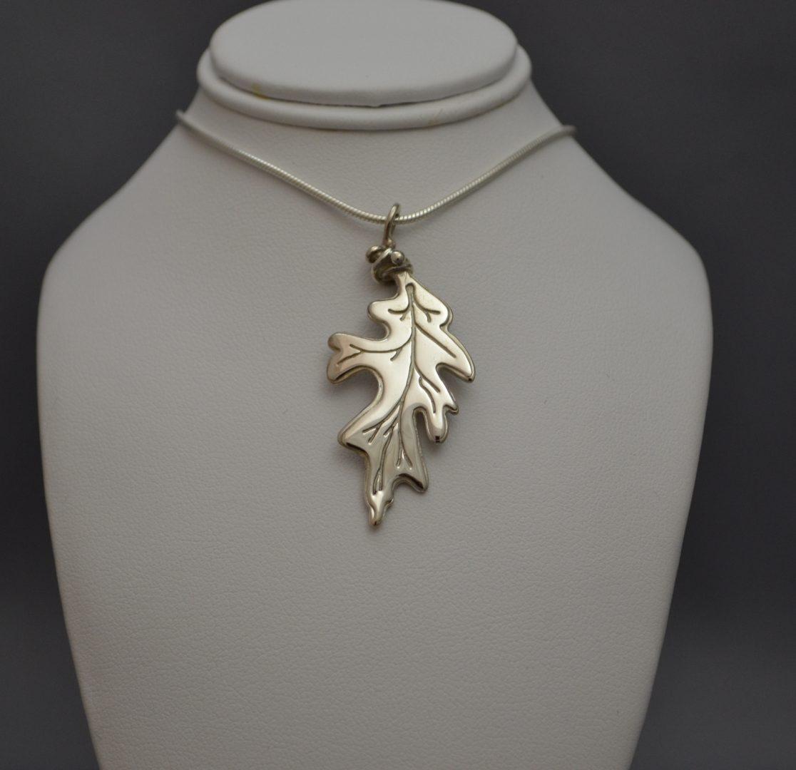 Muskoka jewellery design one of a kind jewellery in huntsville sterling silver oak leaf pendant aloadofball Choice Image